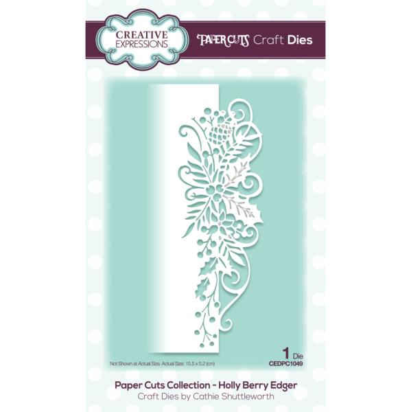 Paper Cuts Collection - Holly Berry Edger Craft Die
