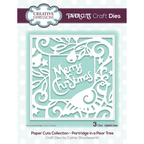 Paper Cuts Collection - Partridge in a Pear Tree Craft Die