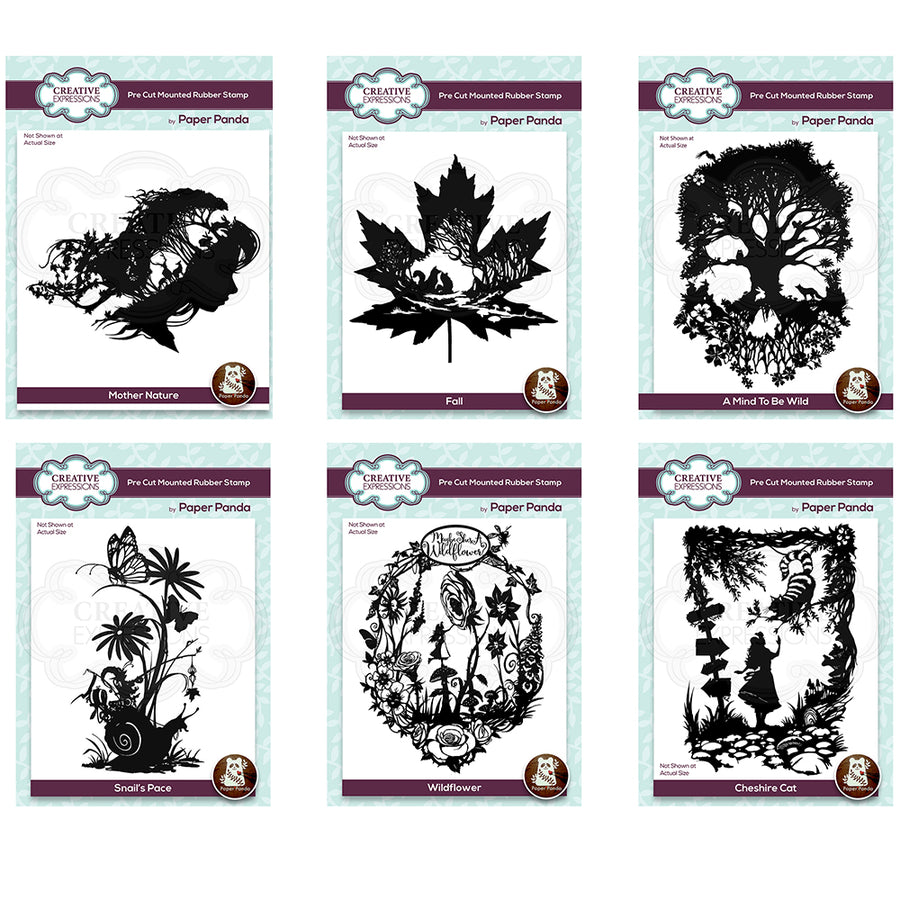 Paper Panda Stamps by Creative Expressions - Set of 6