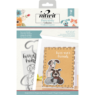 Nitwit Pawsitivity - Stamp & Die Set - Furr-ever Friends