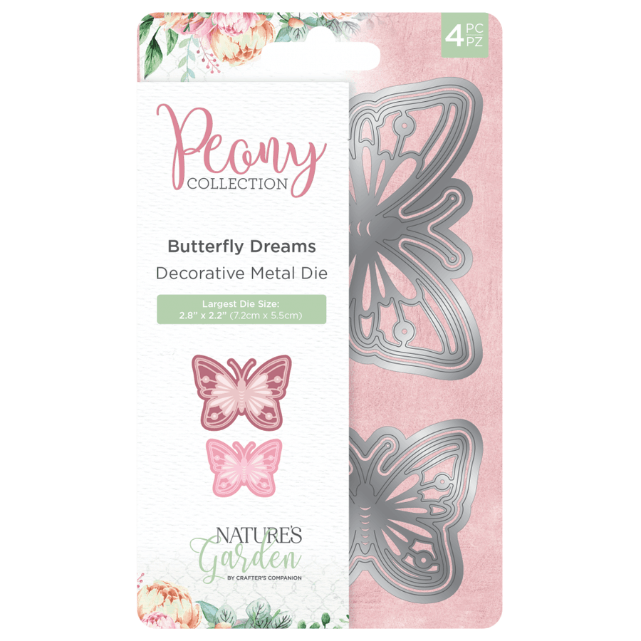 Nature's Garden Peony Collection - Metal Die - Butterfly Dreams