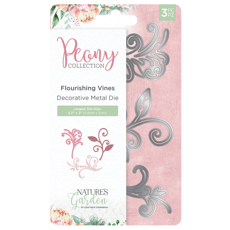 Nature's Garden Peony Collection - Metal Die - Flourishing Vines