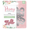 Nature's Garden Peony Collection - Metal Die - Hello