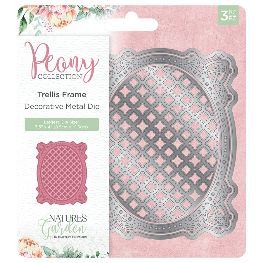 Nature's Garden Peony Collection - Metal Die - Trellis Frame