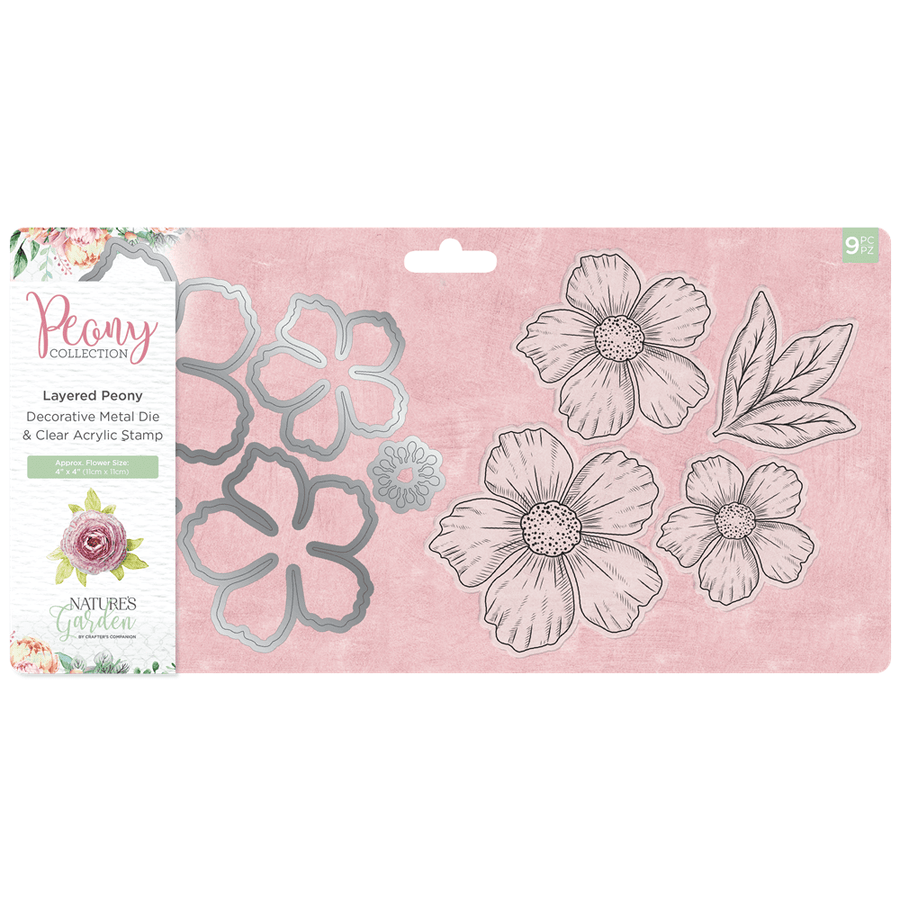 Nature's Garden Peony Collection - Stamp & Die - Layered Peony