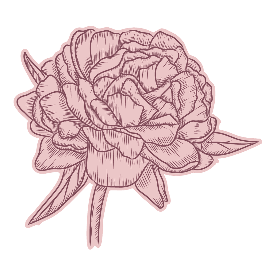 Nature's Garden Peony Collection - Stamp & Die - Perfect Peony