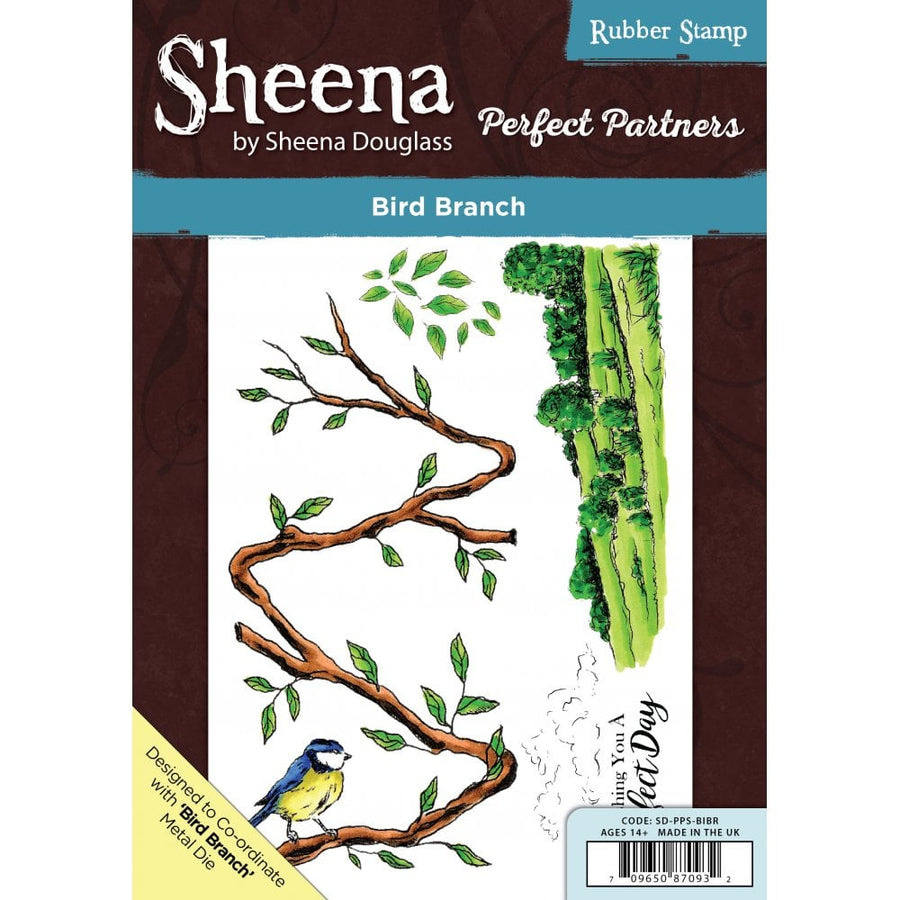 Sheena Douglass - Perfect Partners - A5 Stamp - Bird Branch