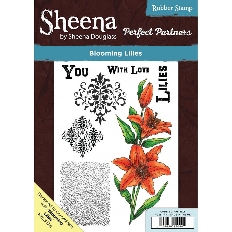 Sheena Douglass - Perfect Partners - A5 Stamp - Blooming Lilies