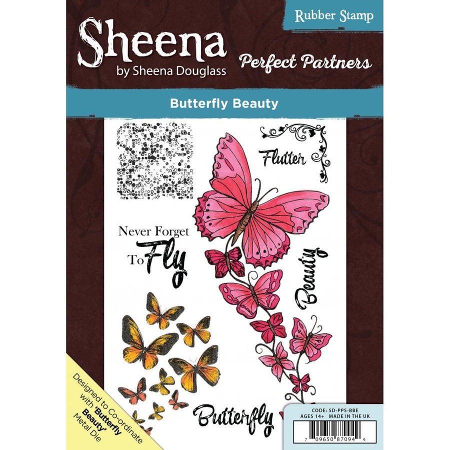 Sheena Douglass - Perfect Partners - A5 Stamp - Butterfly Beauty