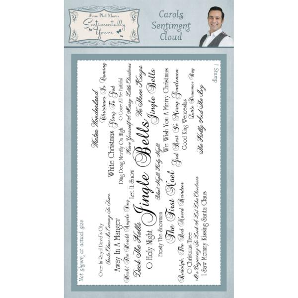 Phill Martin Carols Sentiment Cloud Pre Cut Rubber Stamp