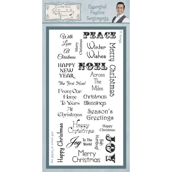 Phill Martin Essential Festive Sentiments Clear Stamp Set