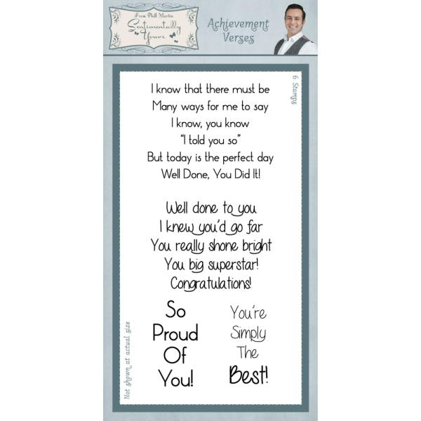 Phill Martin Stamps - Achievement Verses Clear Stamp Set