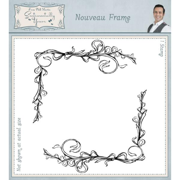 Phill Martin Stamps - Nouveau Frame Pre Cut Rubber Stamp