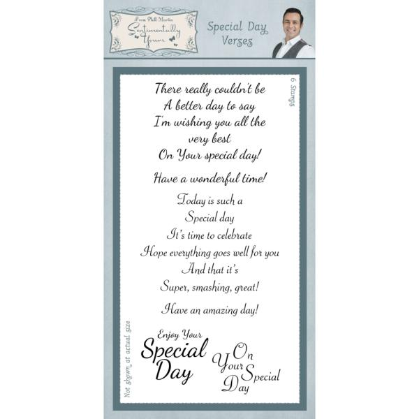 Phill Martin Stamps - Special Day Verses Clear Stamp Set