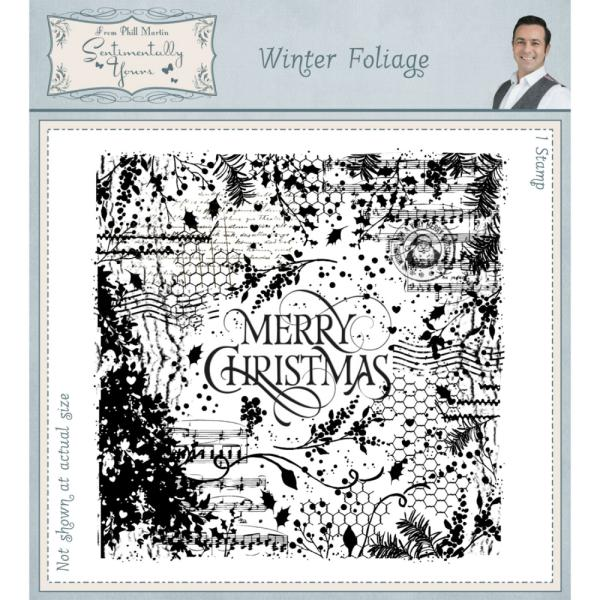 Phill Martin Winter Foliage Pre Cut Stamp Set