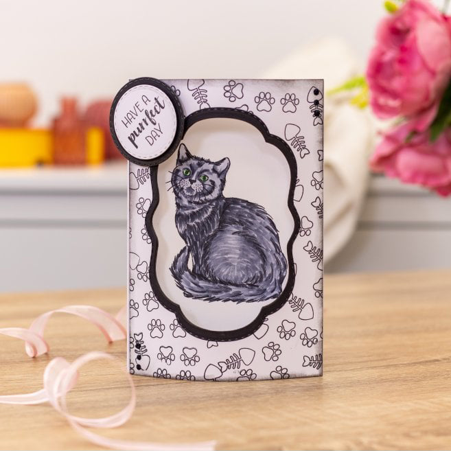 Crafters Companion - Photopolymer Stamp - A Purrfect Day