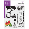 Crafters Companion Gemini - Photopolymer Stamp - Birds of Love