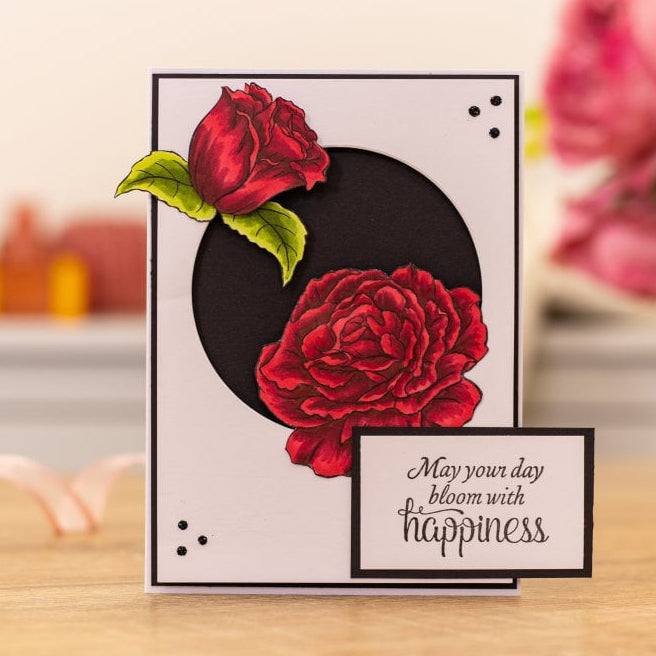 Crafters Companion - Photopolymer Stamp - Bloom with Happiness