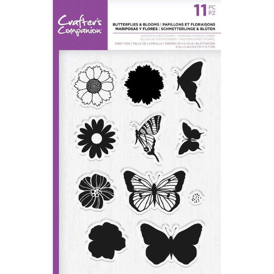 Crafters Companion - Photopolymer Stamp - Butterflies & Blooms