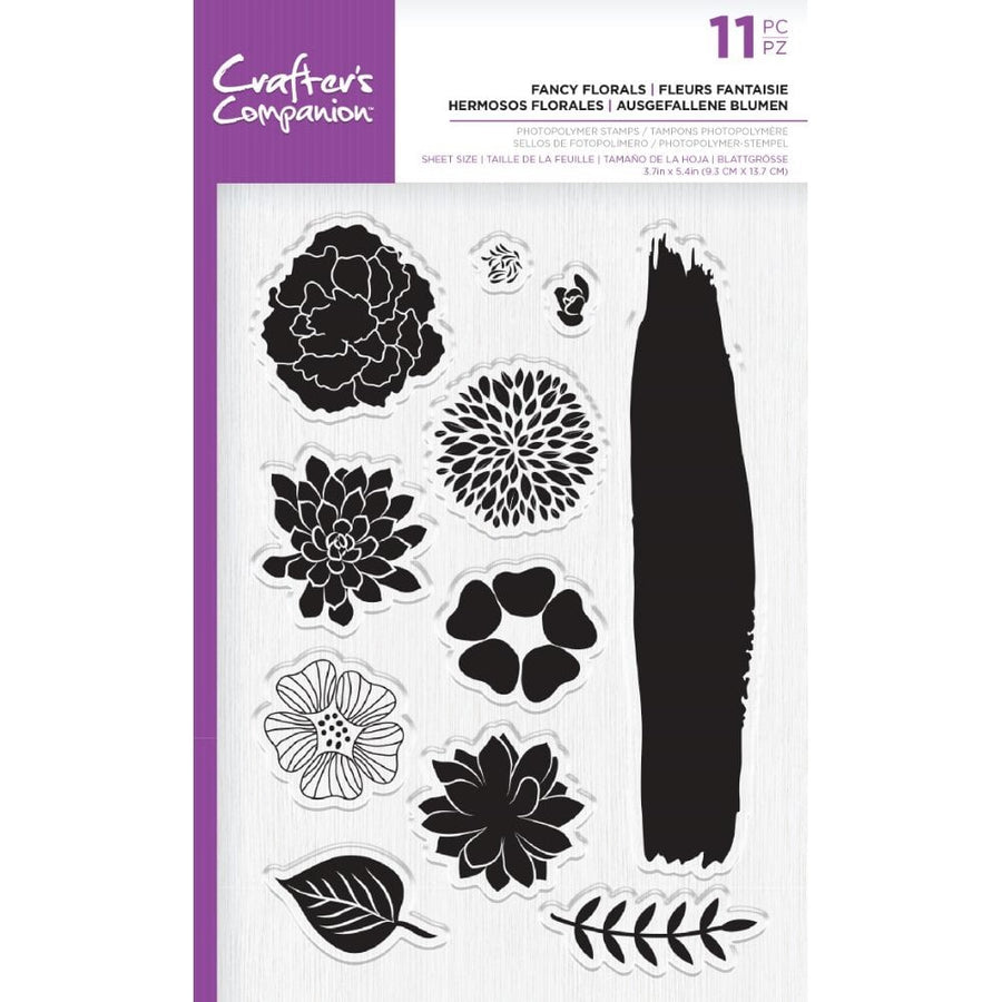 Crafters Companion - Photopolymer Stamp - Fancy Florals