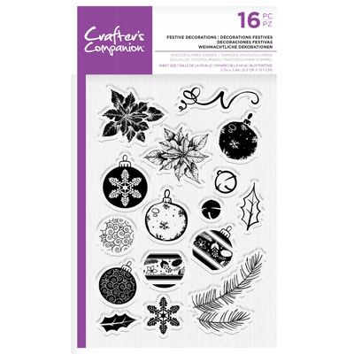 Crafters Companion - Photopolymer Stamp - Festive Decorations