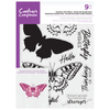 Crafters Companion Gemini - Photopolymer Stamp - Majestic Butterfly