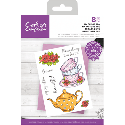Crafters Companion Stamp - My Cup of Tea