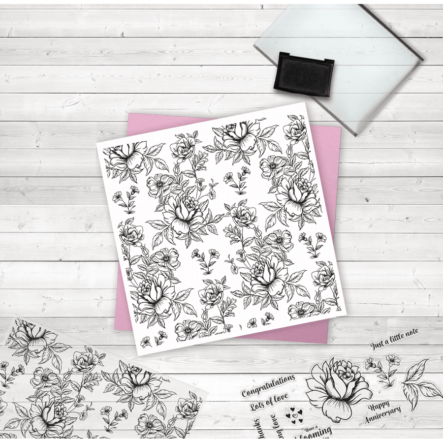 Crafters Companion - Photopolymer Stamp - Oriental Peony