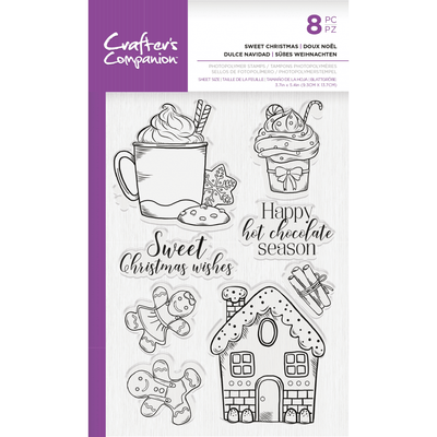 Crafters Companion Stamp - Sweet Christmas