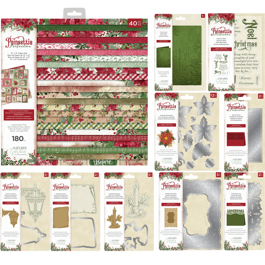 Nature's Garden Collection - Poinsettia Perfection Bundle