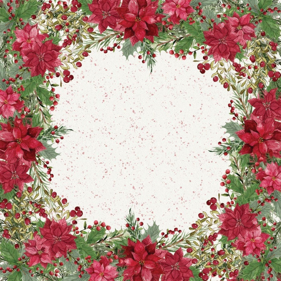Crafter's Companion Nature's Garden Poinsettia Perfection Collection- 12x12 Paper Pad