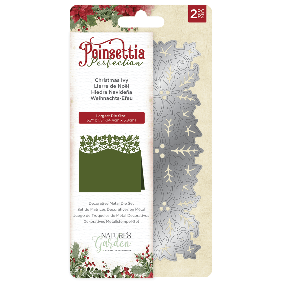 Crafter's Companion Nature's Garden Christmas Ivy Metal Die