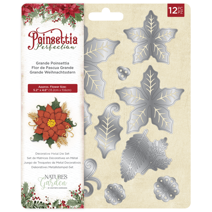 Nature's Garden - Poinsettia Perfection - Metal Die - Grande Poinsettia