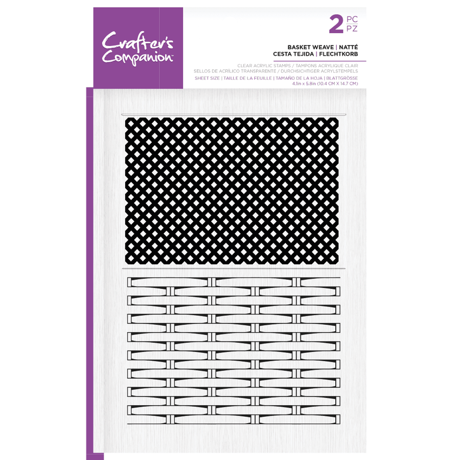Pop Up Boxes - Clear Acrylic Stamp - Basket Weave