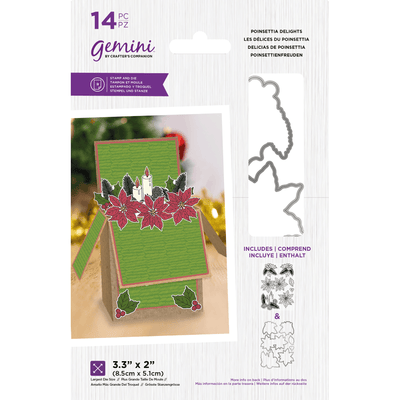 Gemini by Crafters Companion - Stamp & Die - Poinsettia Delights