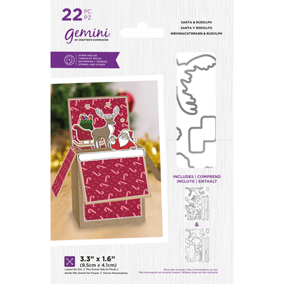 Gemini by Crafters Companion - Stamp & Die - Santa & Rudolph