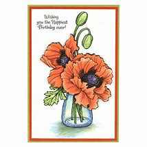 Stampendous: Pretty Poppies Die Set (CRS5096)