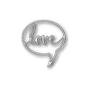Poppystamps Die - Love Word Balloon - 1131