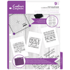 Crafters Companion - Clear Acrylic Stamps - Peace & Joy