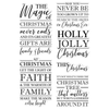 Crafters Companion - Clear Acrylic Stamps - The Magic of Christmas