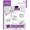 Crafters Companion - Clear Acrylic Stamps - The Spirit of Christmas