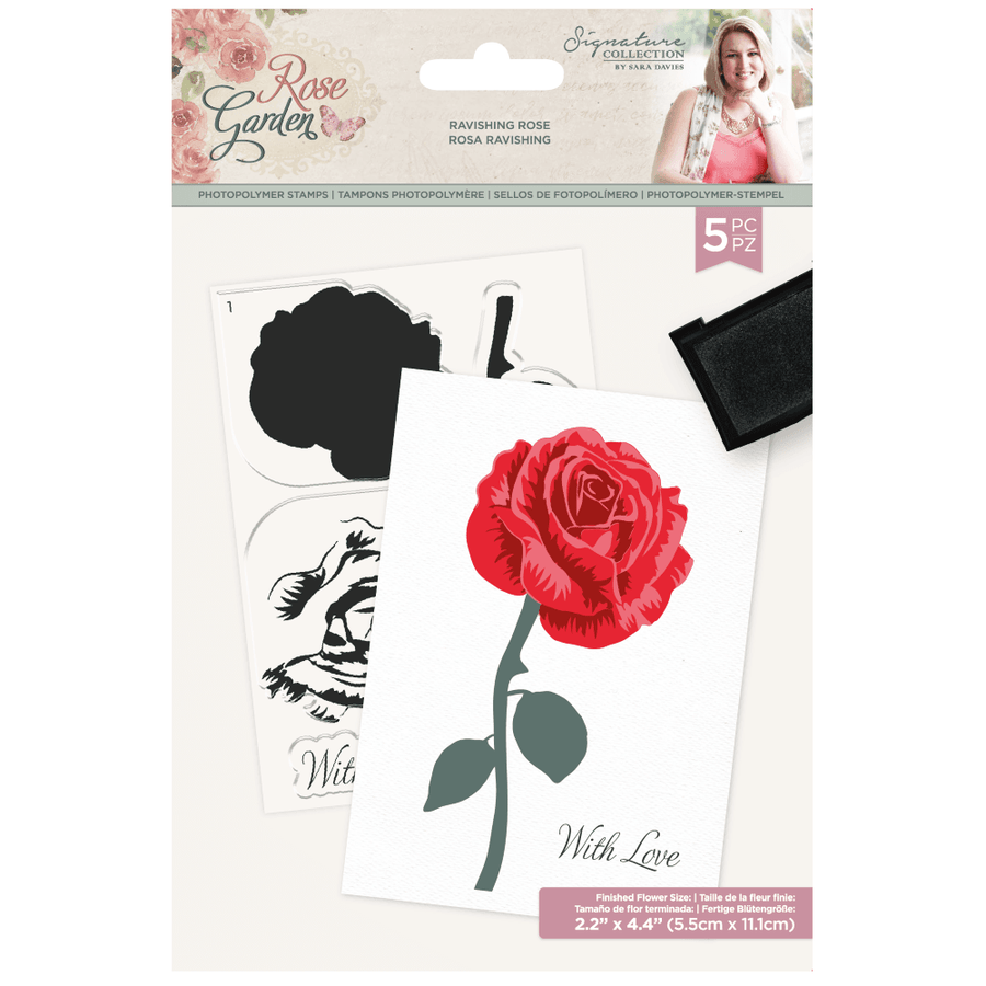 Sara Signature Collection - Rose Garden - A6 Photopolymer Stamp - Ravishing Rose