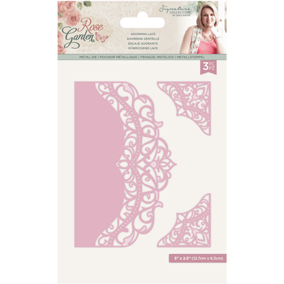 Sara Signature Collection - Rose Garden - Metal Die - Adorning Lace