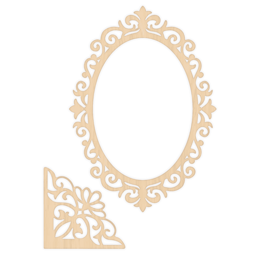Sara Signature Collection - Rose Garden - Wooden Frames and Corners