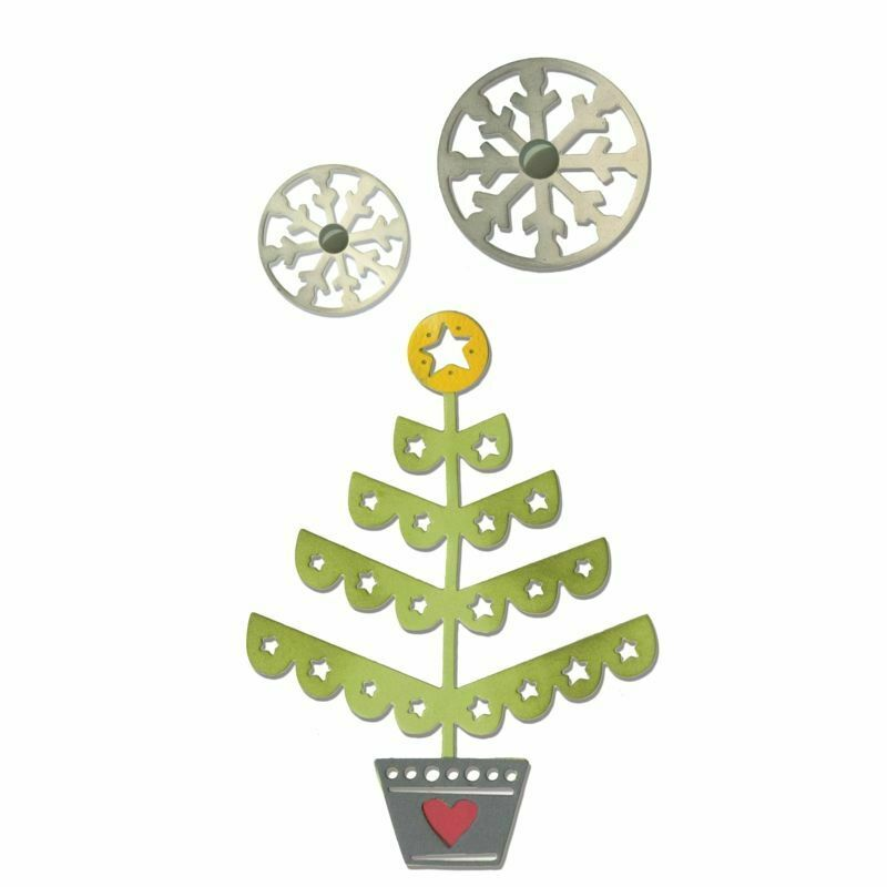 Sizzix Thinlits Die Set - Christmas Tree & Snowflakes - 660726
