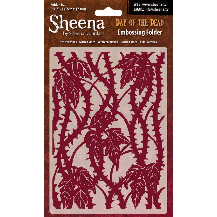 Sheena Douglass Embossing Folder 5x7 - Day Of The Dead - Twisted Vines