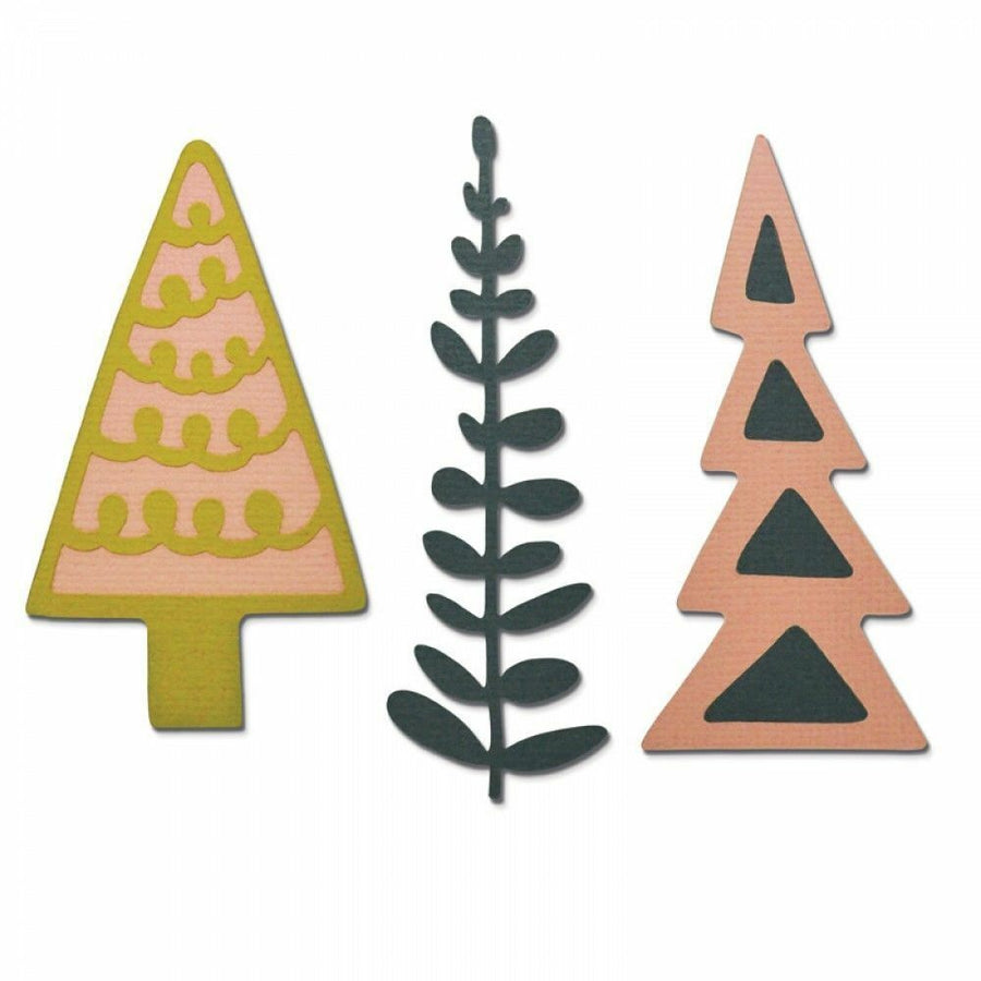 Sizzix Thinlits - Decorative Trees - 660878