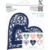 X-Cut Dies: Dies - Folk Bird Heart (XCU 504089)