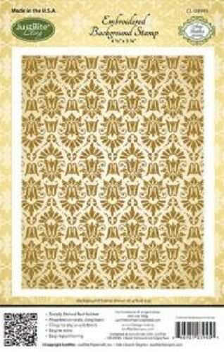 JustRite Cling Stamp - Embroidered Background Stamp (CL-09435)