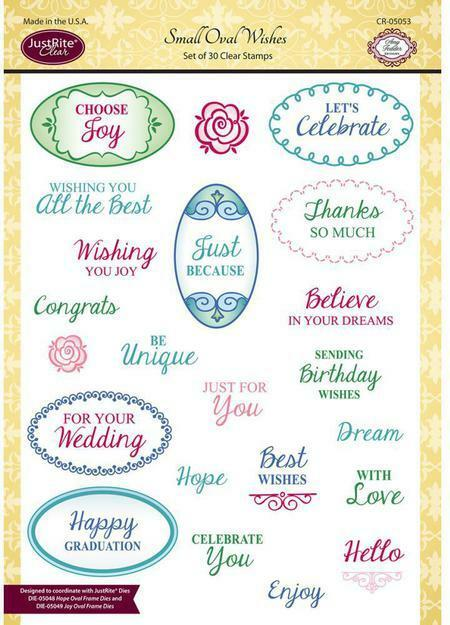 JustRite Stamps - Small Oval Wishes (CR-05053)